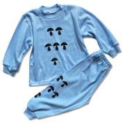 Detské pyžamo – HUBY, modré veľkosť: 110