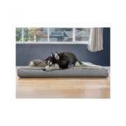 FurHaven Ultra Plush Deluxe Cooling Gel Pillow Dog Bed w/Removable Cover, Gray, Jumbo