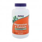 Magneziu Calciu Zinc si vit D Now Foods 250 tablete