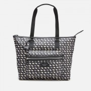 Radley Women's Multi Dog Oilskin Large Zip Top Shoulder Tote Bag - Black