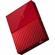 Western Digital My Passport 2.5 inch USB 3.0 External Drive 4TB WDBYFT0040BRD - Red