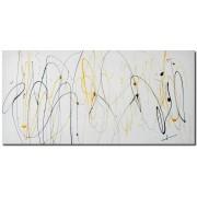 gdegdesign Tableau peinture design colorée multicolore 100x50 cm - Luis