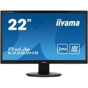 "Monitor TN LED iiyama 21.5"" ProLite E2283HS-B1, Full HD, DVI-D, HDMI, 2ms, Boxe (Negru)"