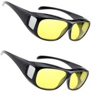 BUY 1 GET 1 FREE HD Wrap Arounds Night Vision NV NIGHT VIEW Glasses In Best Price Yellow Color For Perfect Night Day Driving (AS SEEN ON TV)