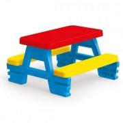 Masa cu bancute cu 4 locuri pentru exterior din plastic Dolu