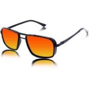 fashion sunglasses Rectangular Sunglasses(Orange)