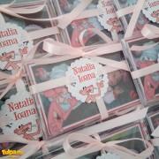 Marturie pentru botez, magnet personalizat cu Pantera Roz
