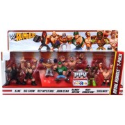 WWE Wrestling Rumblers Mini Figure 7-Pack Royal Rumble [Kane Big Show Rey Mysterio John Cena Randy Orton Kofi Kingston & Sheamus]