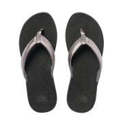 Reef Miss J-Bay leren teenslippers zilver