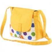 Vivinkaa Yellow Polka Canvas Sling Bag for Women