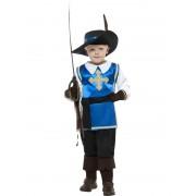 Costum Carnaval Copii Muschetar Albastru