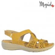 Sandale dama din piele naturala 251202/016795/Galben/Eva