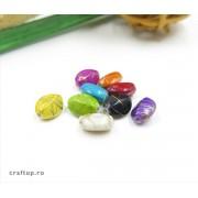 Mărgele romb cu linie aurie (100g)