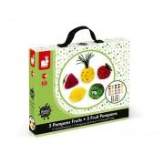 JANOD Zestaw artystyczny Owocowe pompony - owoce z włóczki, 6 lat +,