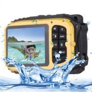 DC-188 2.7 inch LCD 5.0MP FF DSC 8X Digital Zoom Camera Freezproof 1m Shockproof 10m Waterproof WiFi Action DV(Yellow)