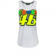VR46 The Doctor 46 Tanktop donne Bianco Giallo XS
