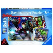 Puzzle 3 in 1 - Avengers, 147 piese
