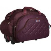 YES STYLE Waterproof Polyester Lightweight 40 L Luggage Travel Duffel Bag with 2 Wheels (Purple) - YS58PRL Travel Duffel Bag(Purple)
