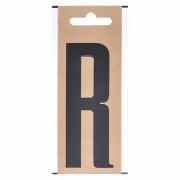 Geen Letter sticker R zwart 10 cm