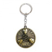 KD COLLECTIONS Iron Man Rotating Keychain (Antique Golden)