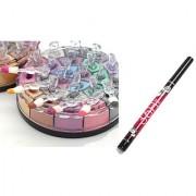 18 Multi Colors Shimmer Eye Shadow Free 1 Sketch Eye Liner