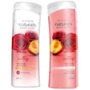 Avon Red Rose Peach Shower Gel Body Lotion