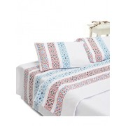 Lenjerie de pat dubla Heinner, King Size, bumbac, 4 piese, motive traditionale, HR-4BED132-TRD, Multicolor