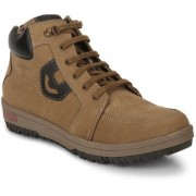 Red Chief Rust Men High Ankle Outdoor Casual Leather Shoes (RC3517 022)