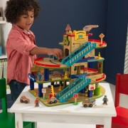 Set de joaca Wash N Go Wooden Car Garage