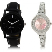 The Shopoholic Black Pink Combo Treny and Precious Black And Pink Dial Analog Watch For Boys And Girls Mens Watches