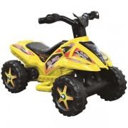 Quad copii cu pedala acceleratie galben