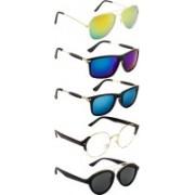 NuVew Aviator, Oval, Rectangular, Round, Wayfarer Sunglasses(Blue, Clear, Grey, Golden, Green, Blue)