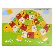 Skillofun Wooden My Alphabet Tortoise, Multi Color