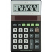 Calculator de buzunar, 8 digits, 117 x 70 x 21 mm, dual power, SHARP EL-R277BBK - gri/negru