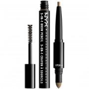 NYX Professional Makeup Köp NYX PROFESSIONAL MAKEUP 3-In-1 Brow Pencil, Blonde NYX Professional Makeup Ögonbrynsmakeup fraktfritt