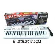Синтезатор 44 клавиши, микрофон, запись, демо, LED ЭКРАН, батар не вх. MQ4401
