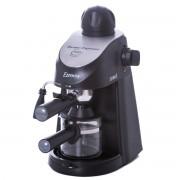 Espressor Samus Essenza, 3.5 bari, Rezervor 0.24 L, Capacitate 4 ceşti, Filtru inox, Cană gradată, Negru/Inserție inox
