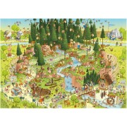Puzzle Heye - Marino Degano: Habitat from the black forest, 1.000 piese (43650)