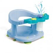 Scaun baie bebe cu stropitoare si jucarii albastru
