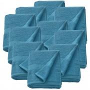 [neu.haus]® 10 x Toallas de rizo para Invitados - 80 x 200 cm - Set de toallas de baño - Paño - Toalla de sauna grande - 100% algodón - 450 g/m² - Turquesa