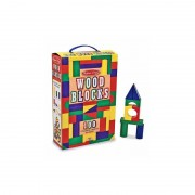 Cuburi din lemn colorate
