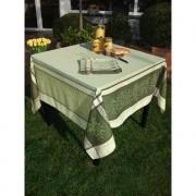 Vent du Sud Geweven tafellinnen met olijvendessin, 160 x 160 cm