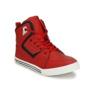Shoe Rider Men's Red Synthetic Leather Casual Shoes