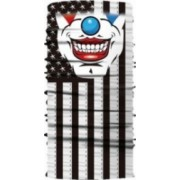 Masca tip cagula partiala cu model Joker negru/alb