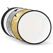 Godox 60cm 5in1 reflectiescherm goud, zilver, wit, zwart en doorschijnend wit