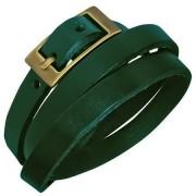 Bratara piele verde cu catarama