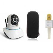 Zemini Wifi CCTV Camera and Q7 Microphone Karake With Bluetooth Speaker for SAMSUNG GALAXY S 5 PLUS(Wifi CCTV Camera with night vision |Q7 Microphone Karake With Bluetooth Speaker)
