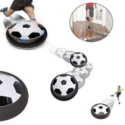 GR CREATIVE BOX Indoor Outdoor Air Power Soccer Hover Disk Ultraglow with Foam Bumpers and Light Up LED Lights