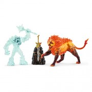 Schleich Battle for The Superweapon Frost Monster Vs. Fire Lion