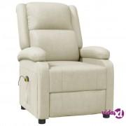 vidaXL Masažna fotelja od umjetne kože bijela